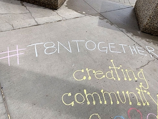 T8NTogether Chalk Art