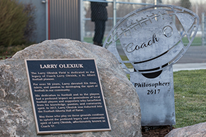 Larry Olexiuk Plaque and Statue