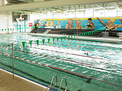 Photo of the competition pool