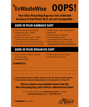 Waste Wise Orange Sticker