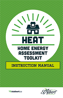 Front cover of the HEAT Home energy assessment toolkit instruction manual