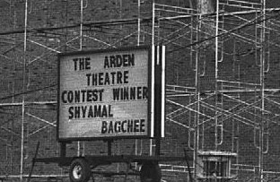 Marquee sign with the naming of The Arden Theatre