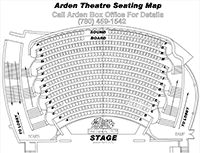 Technical Drawing of Arden Seating Plan