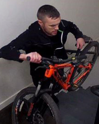 Suspect 1 - Caucasian mountain bike thief